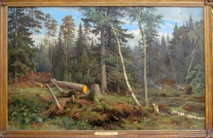 שישקין - עץ נופל