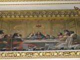 מעל שער הקודש ציור של הסעודה האחרונה