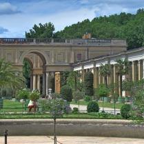 ארמון אורנז'ארי - הגן בחזית הארמון