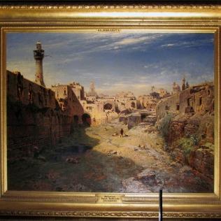 ציור באחד החדרים בארמון
