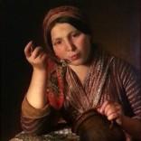 יוהן בפטיסט רייטר – אשה אוכלת אטריות