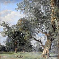 פרדיננד ג'אורג' וולדמולר (צייר אוסטרי מהמאה ה-19) - עצים בפראטר ודמויות יושבות