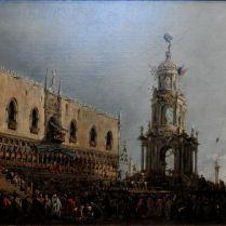 פרנצ'סקו גוארדי - חגיגות יום חמישי השמן בכיכר הפיאצטה בוונציה