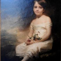 סר הנרי רייבורן, צייר דיוקנאות סקוטי - ילדה קטנה אוחזת פרחים, תמימות. דיוקנה של ננסי גראהם